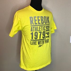 REEBOOK Yellow and Gray Athletic Tee
